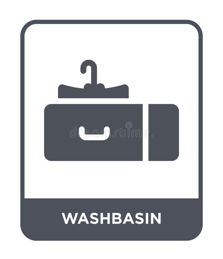icono del lavabo en estilo de moda del diseño icono del lavabo aislado en el fondo blanco plano simple y moderno del icono del ve ilustración del vector