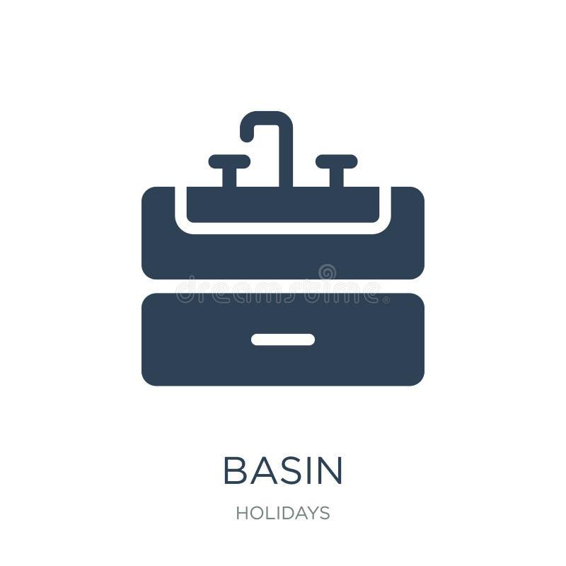 icono del lavabo en estilo de moda del diseño icono del lavabo aislado en el fondo blanco símbolo plano simple y moderno del icon libre illustration