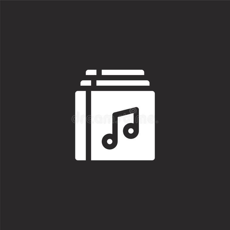 Icono del ?lbum Icono llenado del álbum para el diseño y el móvil, desarrollo de la página web del app icono del álbum de la cole stock de ilustración