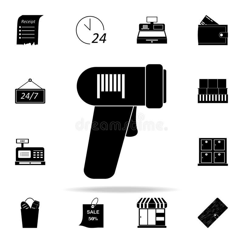 icono del lector de código de barras comercialice el sistema universal de los iconos para el web y el móvil libre illustration