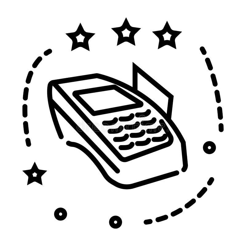Icono del lector de la tarjeta de crédito libre illustration