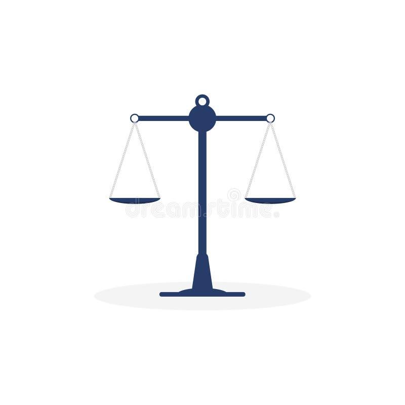 Icono del libra en un fondo blanco Escalas del ejemplo del vector del icono de la ley libre illustration
