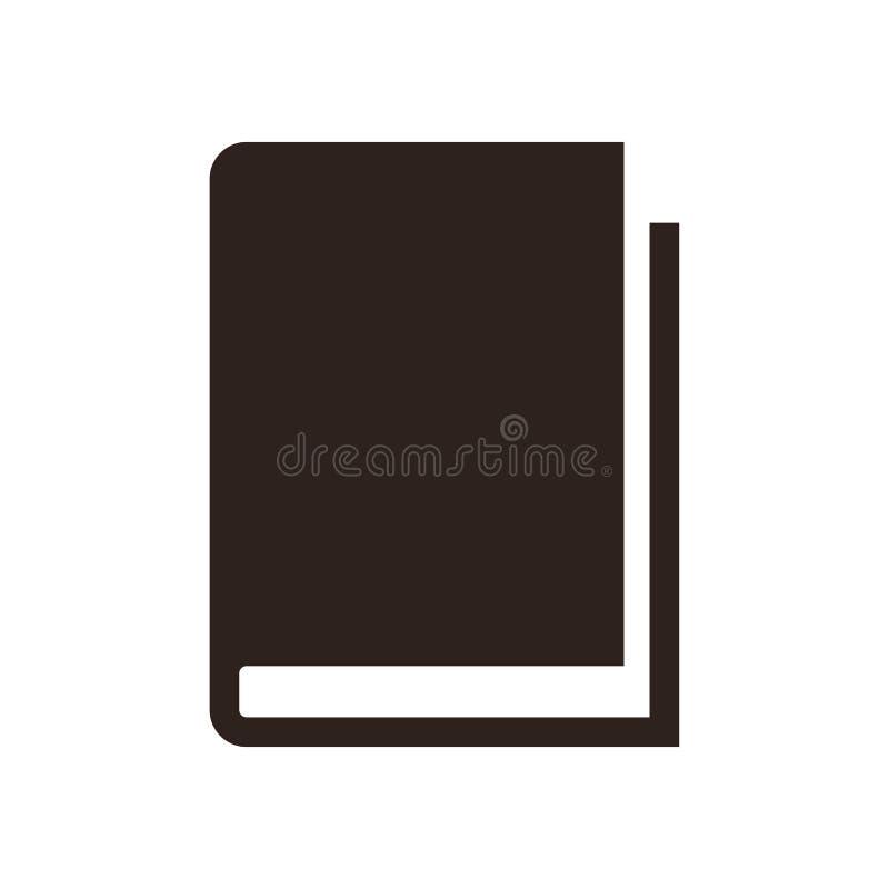 Icono del libro ilustración del vector