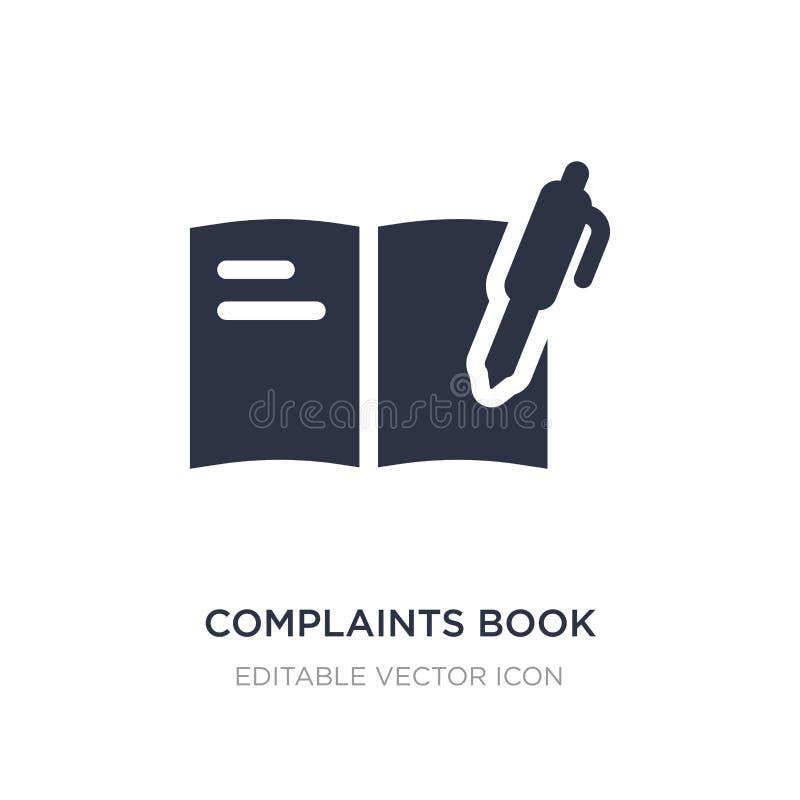 icono del libro de denuncias en el fondo blanco Ejemplo simple del elemento del concepto de las comunicaciones ilustración del vector