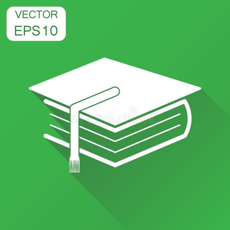 Icono del libro de la educación Pictograma del libro del concepto del negocio Vector la enfermedad libre illustration