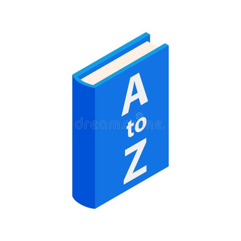 Icono del libro del diccionario, estilo isométrico 3d stock de ilustración