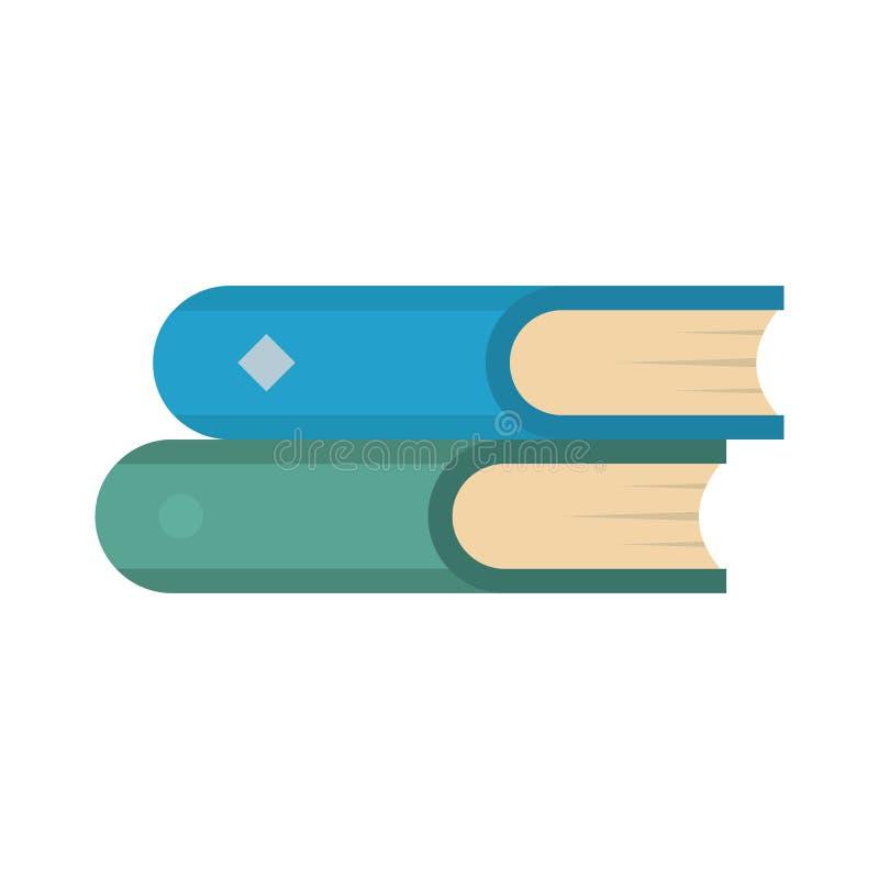 Icono del libro dos, estilo plano ilustración del vector