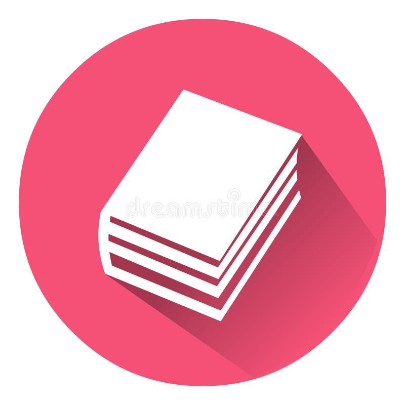 Icono del libro Ejemplo del vector del icono del libro Libro del vector ilustración del vector