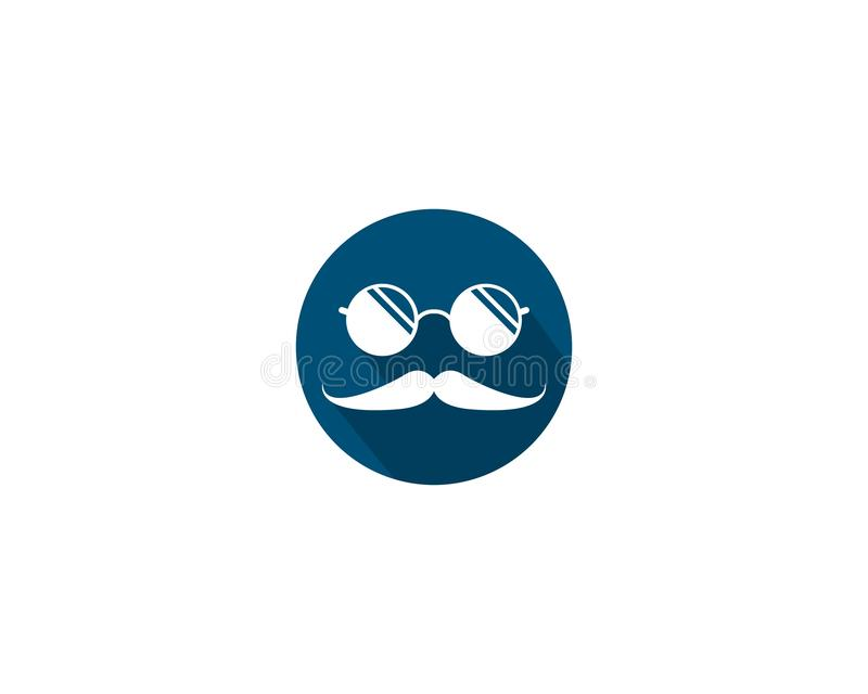 Icono del logotipo del bigote libre illustration