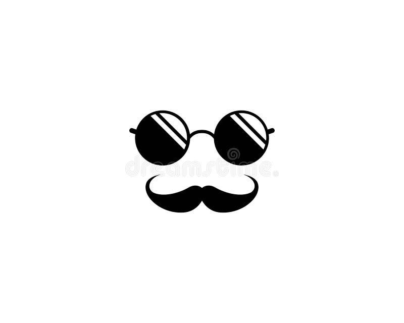 Icono del logotipo del bigote ilustración del vector