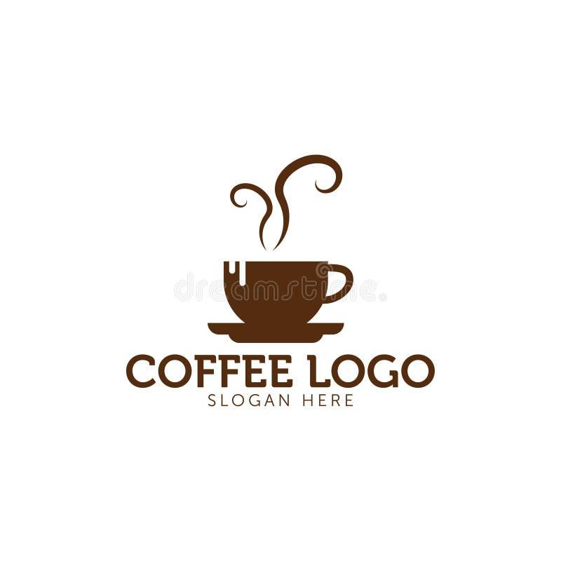 Icono del logotipo del café ilustración del vector