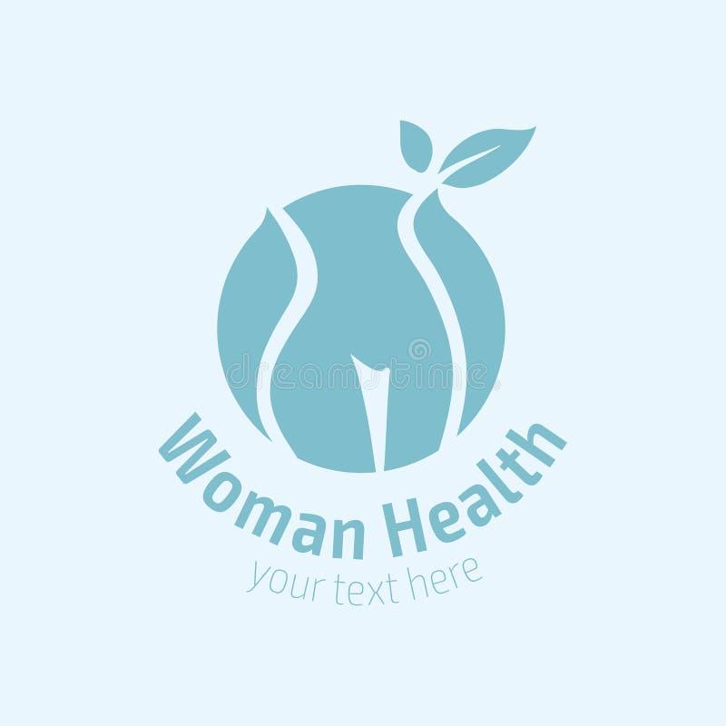 Icono del logotipo de la aptitud de las mujeres Deportes, salud, balneario, yoga, logotipo del vector de la belleza Logotipo de l stock de ilustración