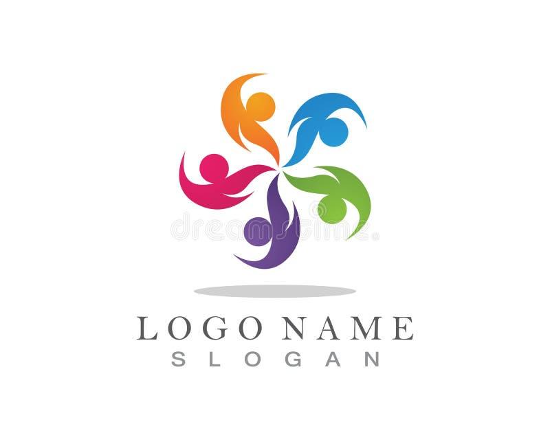 Icono del logotipo de la gente de la comunidad ilustración del vector
