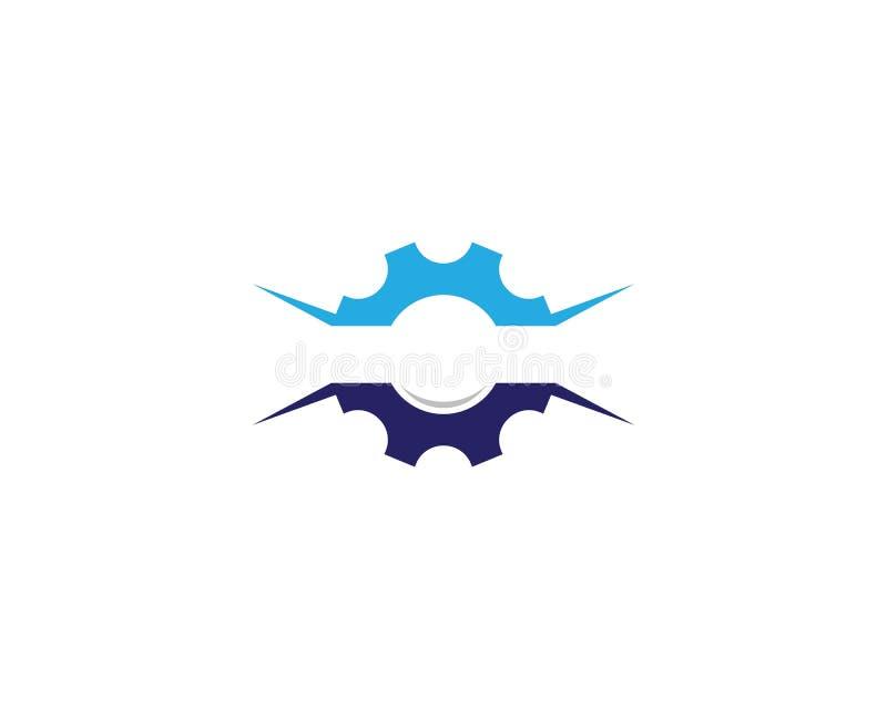 Icono del logotipo de la maquinaria del engranaje stock de ilustración