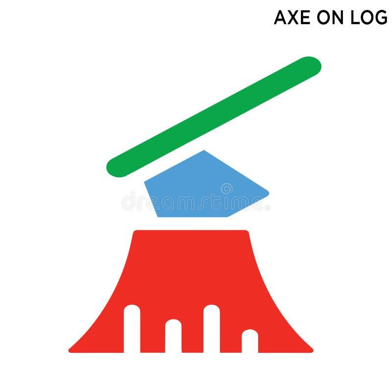 Icono del logotipo de las hachas ilustración del vector
