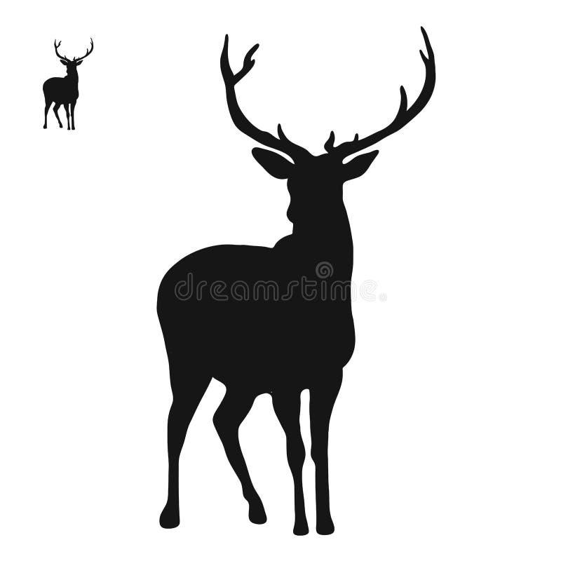 Icono del logotipo de los ciervos stock de ilustración