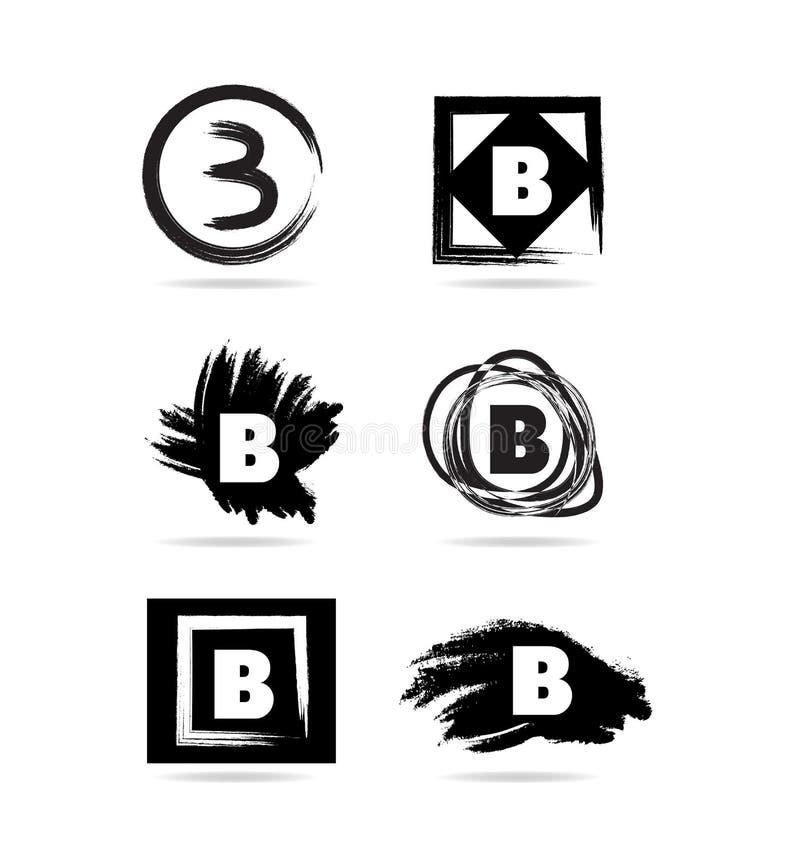 Icono del logotipo del grunge de la letra B libre illustration
