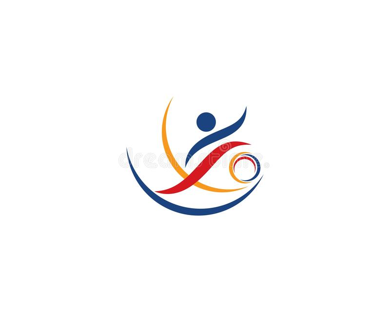 icono del logotipo del deporte ilustración del vector
