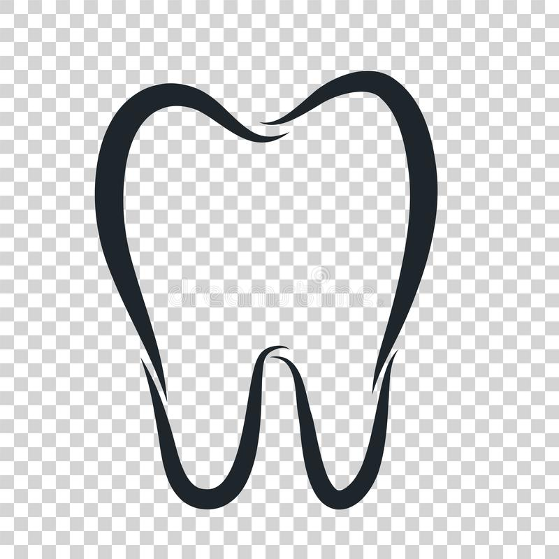 Icono del logotipo del diente para el te del dentista o del diseño del cuidado dental de la estomatología ilustración del vector