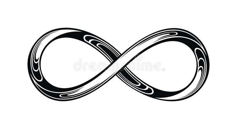 Icono del logotipo del lazo del infinito libre illustration