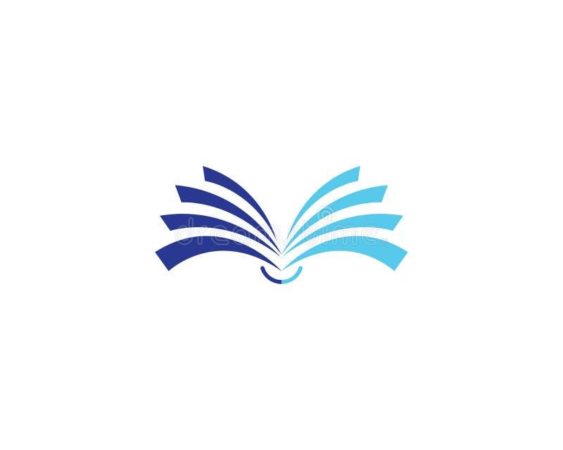 Icono del logotipo del libro ilustración del vector