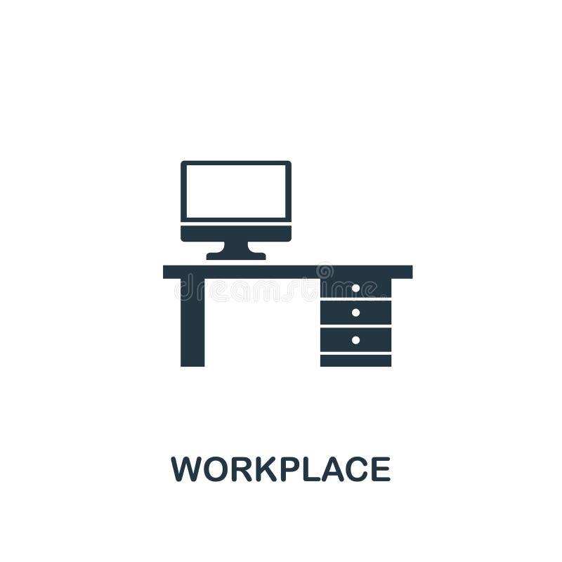 Icono del lugar de trabajo Diseño creativo del elemento de la colección de los iconos de la productividad E libre illustration