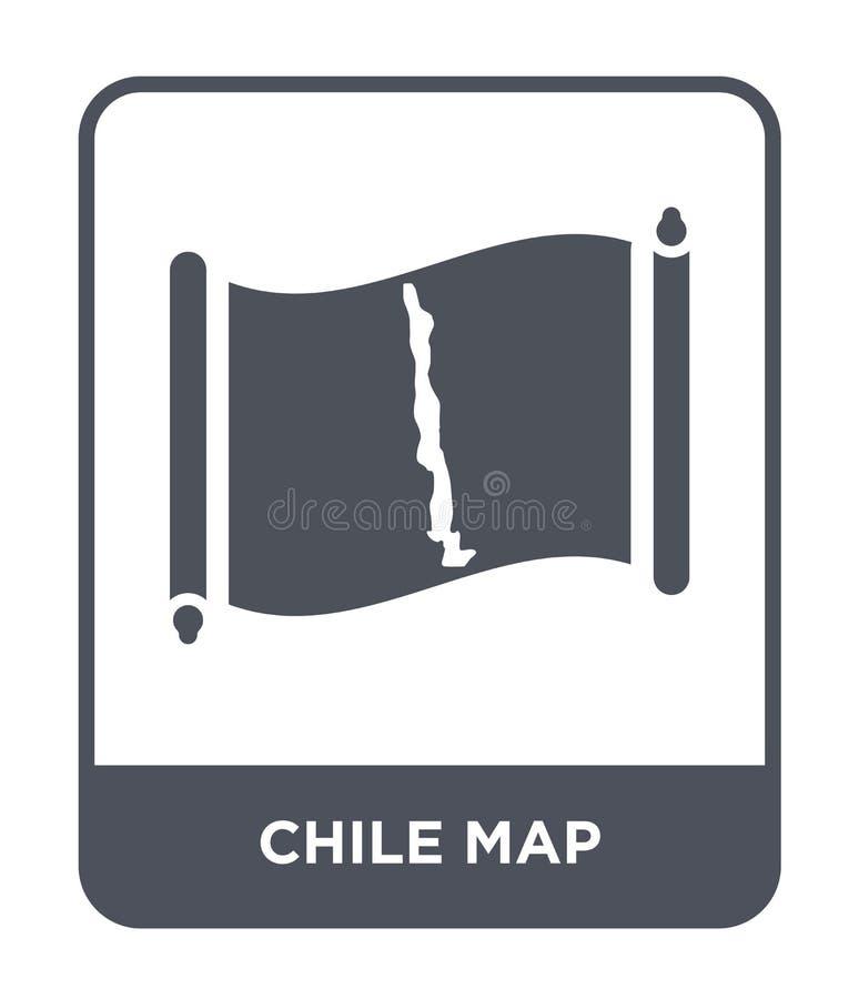 icono del mapa del chile en estilo de moda del diseño icono del mapa del chile aislado en el fondo blanco plano simple y moderno  libre illustration