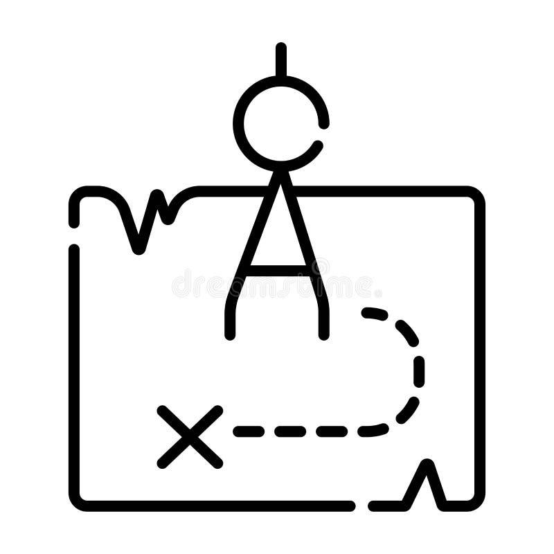 Icono del mapa Correspondencia del tesoro ilustración del vector