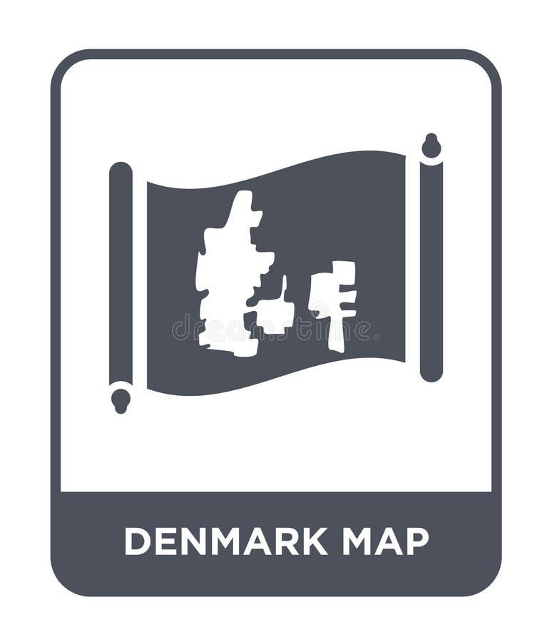 icono del mapa de Dinamarca en estilo de moda del diseño icono del mapa de Dinamarca aislado en el fondo blanco icono del vector  ilustración del vector