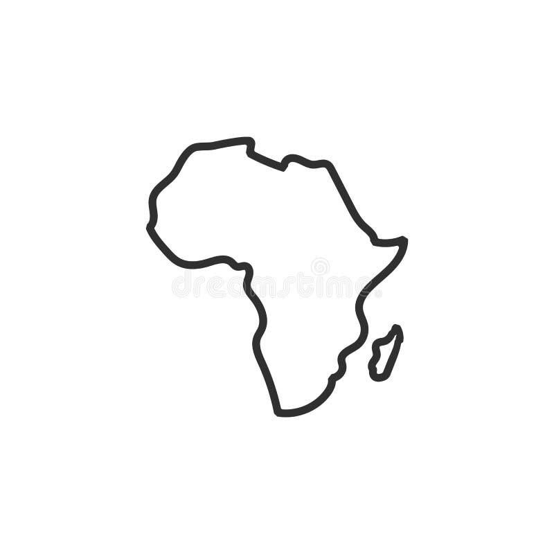Icono del mapa de ?frica Aislado en el fondo blanco Ilustraci?n del vector ilustración del vector
