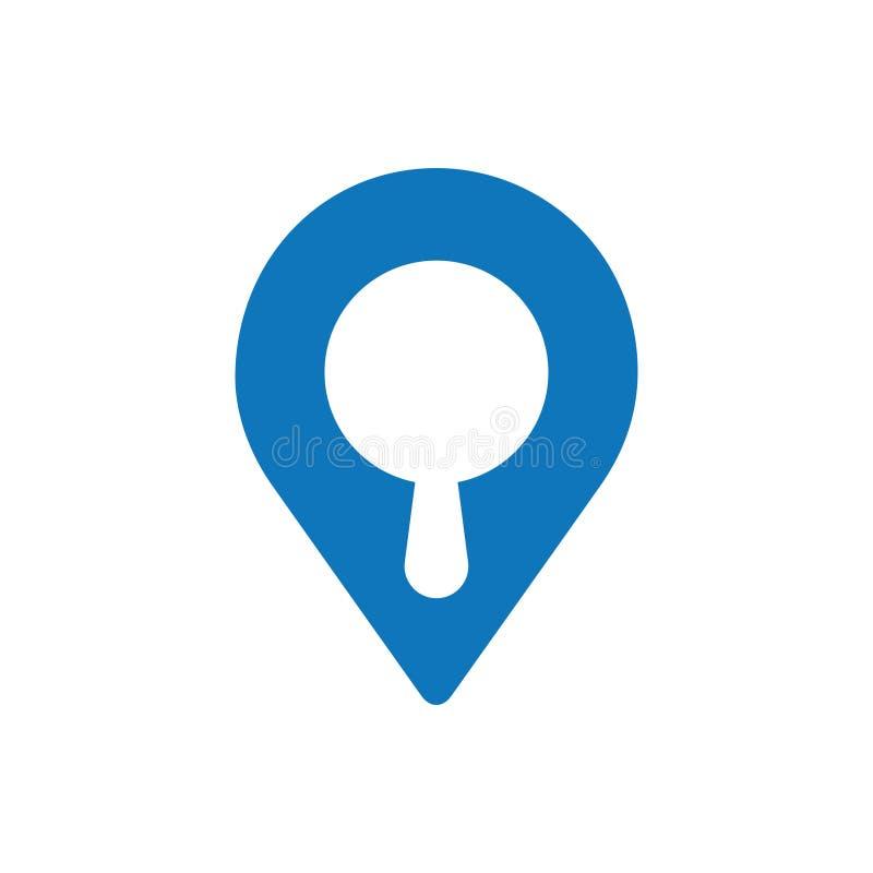 Icono del mapa de la búsqueda libre illustration