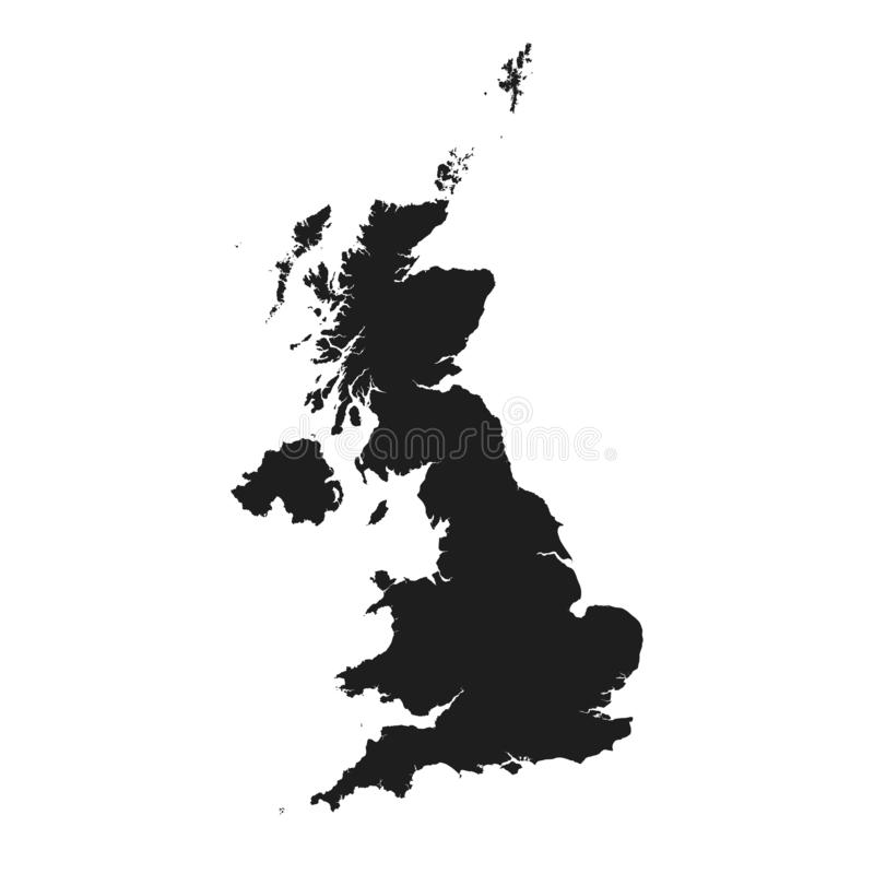 Icono del mapa de Reino Unido E ilustración del vector