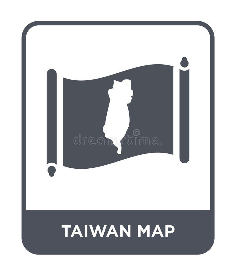 icono del mapa de Taiwán en estilo de moda del diseño icono del mapa de Taiwán aislado en el fondo blanco icono del vector del ma ilustración del vector