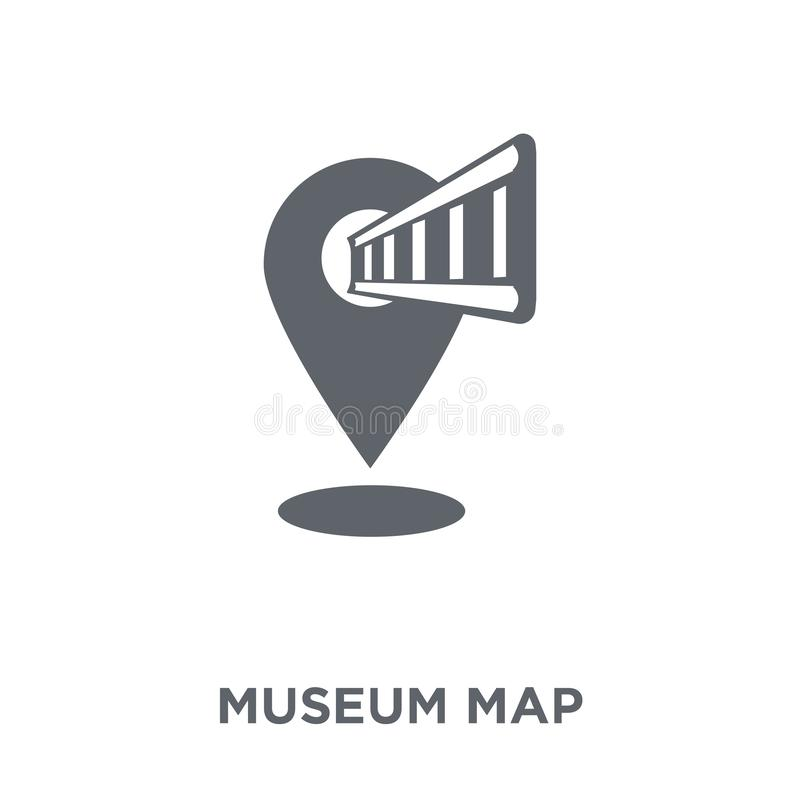 icono del mapa del museo de la colección del museo libre illustration