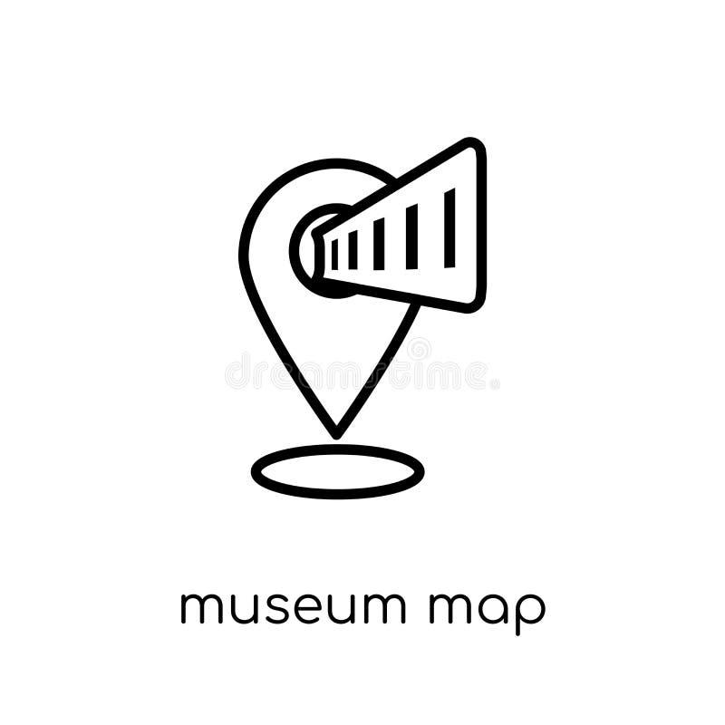 icono del mapa del museo de la colección del museo ilustración del vector