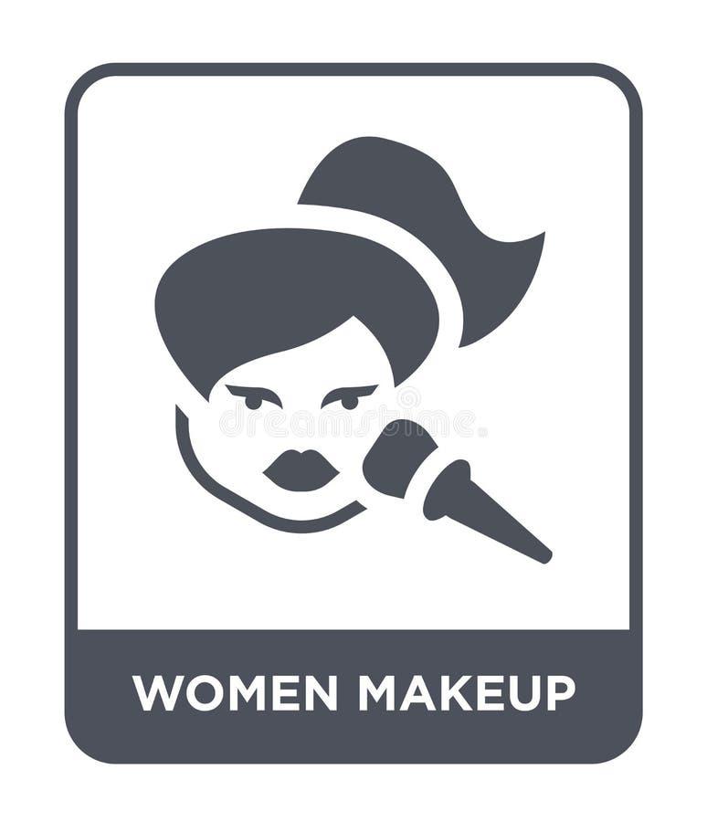 icono del maquillaje de las mujeres en estilo de moda del diseño icono del maquillaje de las mujeres aislado en el fondo blanco i stock de ilustración