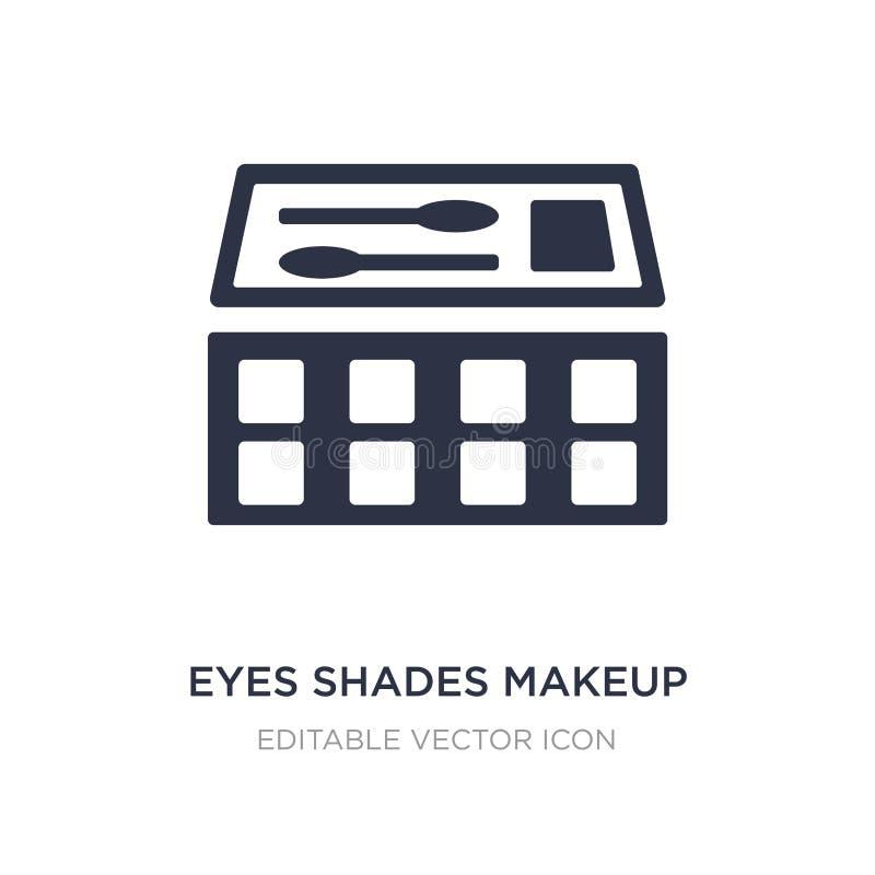 icono del maquillaje de las sombras de los ojos en el fondo blanco Ejemplo simple del elemento del concepto general ilustración del vector