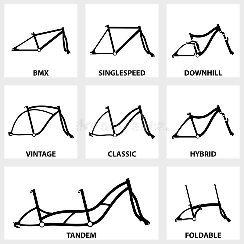 Icono Del Marco De La Bicicleta Ilustración del Vector - Ilustración ...