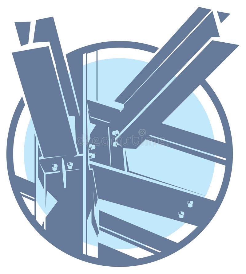 Icono del marco metálico de la construcción del vector