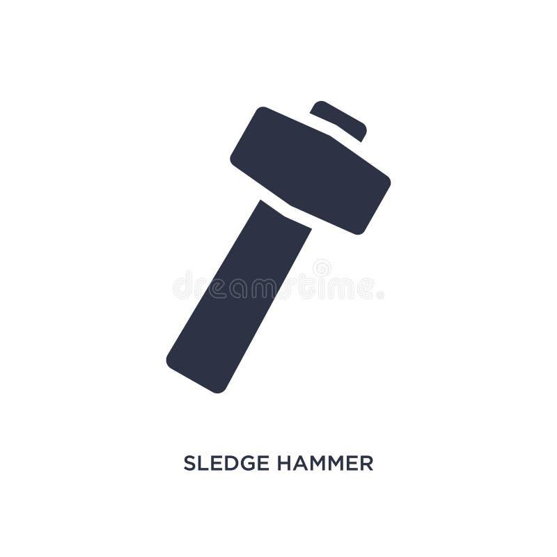 icono del martillo de trineo en el fondo blanco Ejemplo simple del elemento del concepto de la construcción libre illustration