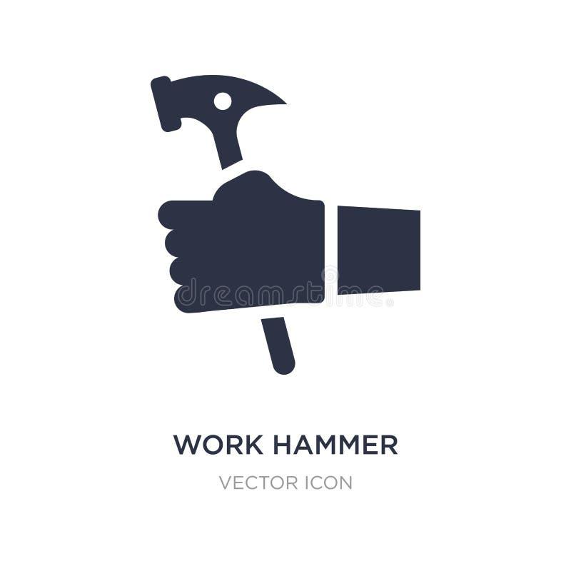 icono del martillo del trabajo en el fondo blanco Ejemplo simple del elemento del otro concepto libre illustration