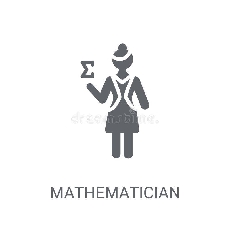 Icono del matemático  stock de ilustración