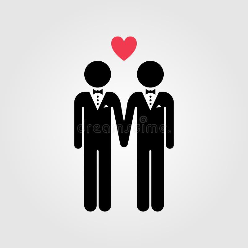 Icono del matrimonio homosexual libre illustration