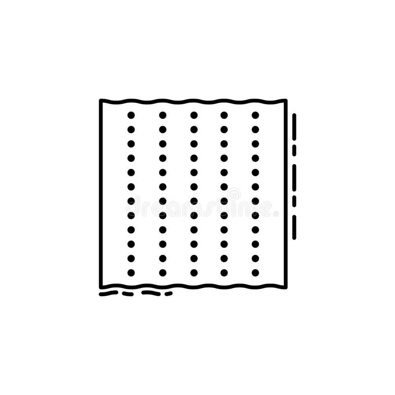 Icono del Matzo Elemento del icono judío para los apps móviles del concepto y del web La línea fina icono del Matzo se puede util ilustración del vector