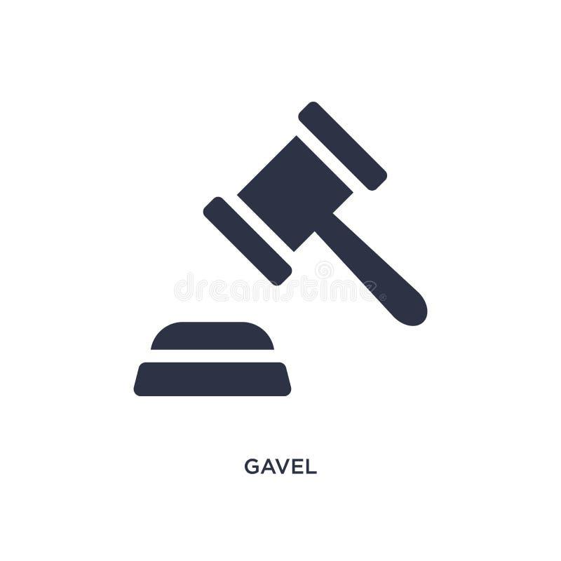 icono del mazo en el fondo blanco Ejemplo simple del elemento del concepto de la ley y de la justicia libre illustration