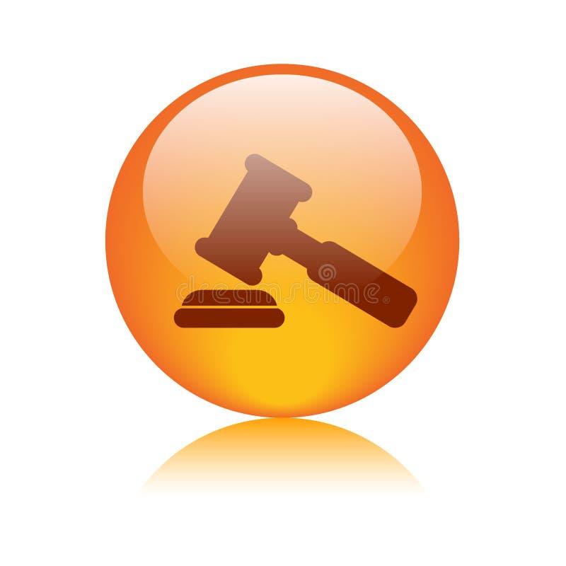 Icono del mazo/del martillo de la justicia libre illustration