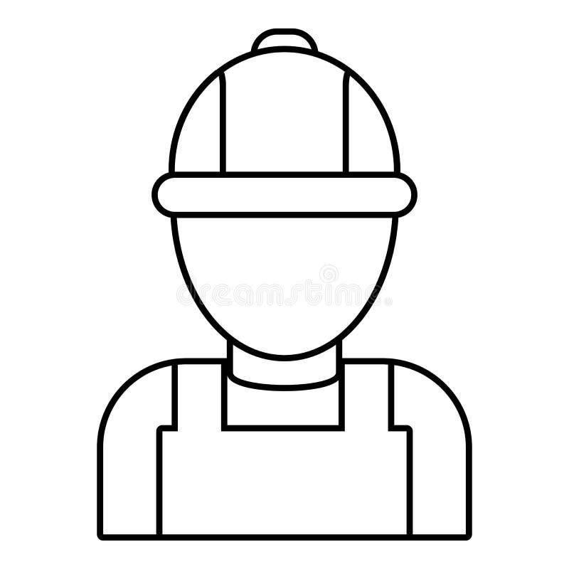 Icono del mecánico del hombre, estilo del esquema libre illustration