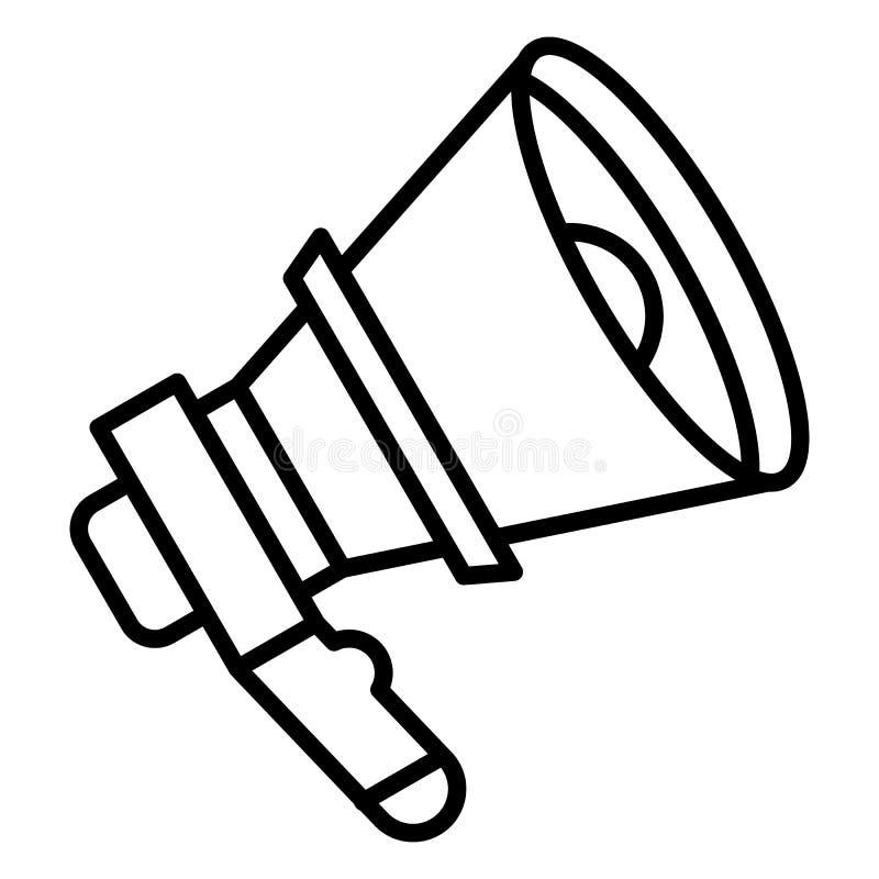 Icono del megáfono de la voz, estilo del esquema stock de ilustración