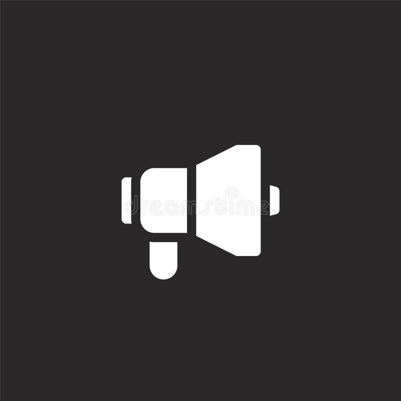 Icono del meg?fono Icono llenado del megáfono para el diseño y el móvil, desarrollo de la página web del app icono del megáfono d stock de ilustración