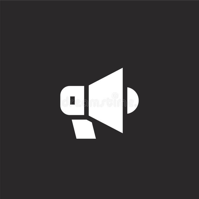 Icono del meg?fono Icono llenado del megáfono para el diseño y el móvil, desarrollo de la página web del app icono del megáfono d ilustración del vector